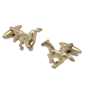 Antique Gold Seabiscuit Horse Cufflinks