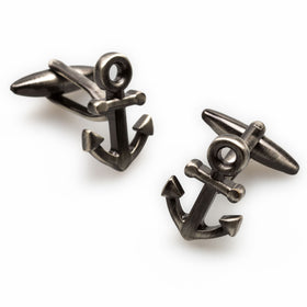Antique Silver Anchor Cufflinks