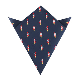 Apollo Space Rocket Pocket Square