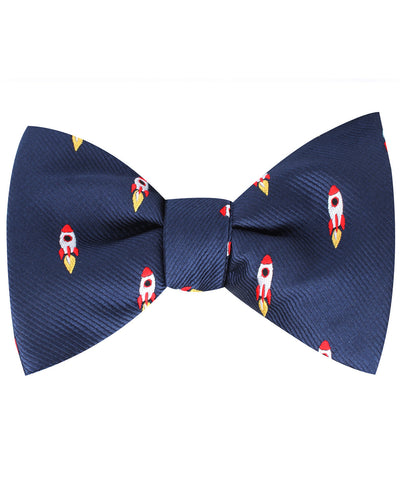 Apollo Space Rocket Self Bow Tie