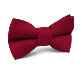 Apple Maroon Linen Kids Bow Tie
