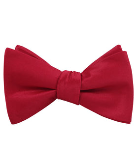 Apple Maroon Satin Self Bow Tie