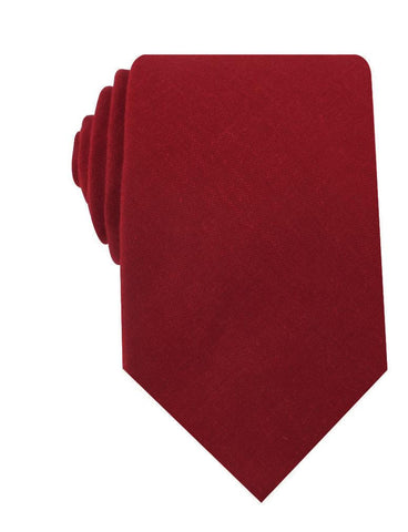 Apple Maroon Linen Necktie