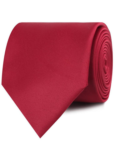 Apple Maroon Satin Necktie