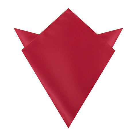 Apple Maroon Satin Pocket Square