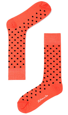 Apricot Peach Dot Socks