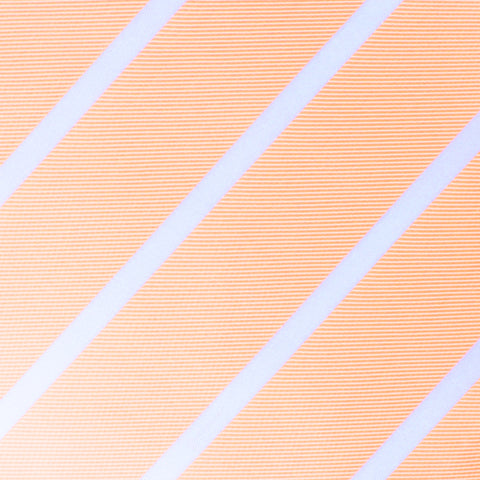 Apricot Striped Kids Bow Tie