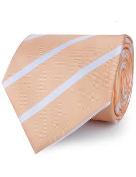 Apricot Striped Necktie