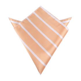 Apricot Striped Pocket Square
