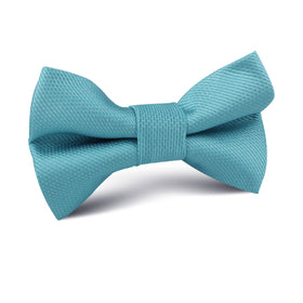 Aqua Blue Malibu Weave Kids Bow Tie