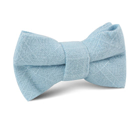 Argentinian Ice Blue Linen Kids Bow Tie