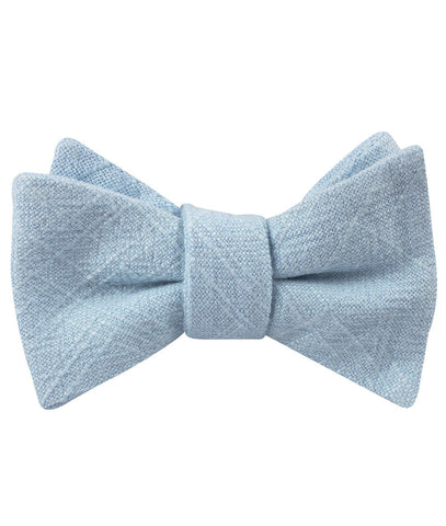 Argentinian Ice Blue Linen Self Bow Tie