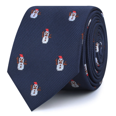 Argentinian Christmas Snowman Skinny Tie