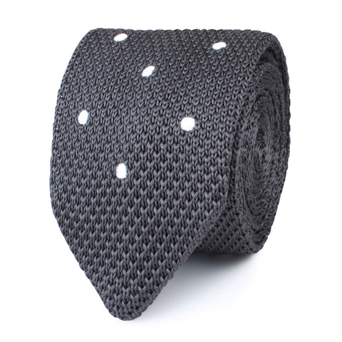 Argento Grey Knitted Tie