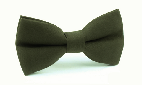 Army Green Cotton Bow Tie