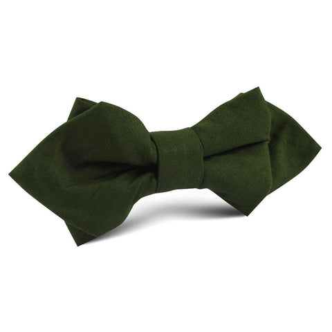 Army Green Cotton Diamond Bow Tie