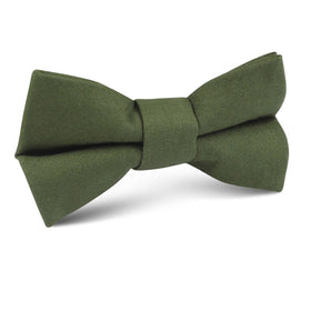 Army Green Cotton Kids Bow Tie