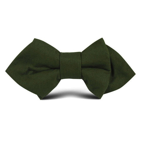 Army Green Cotton Kids Diamond Bow Tie