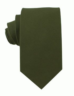 Army Green Cotton Necktie