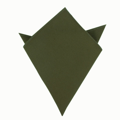 Army Green Cotton Pocket Square