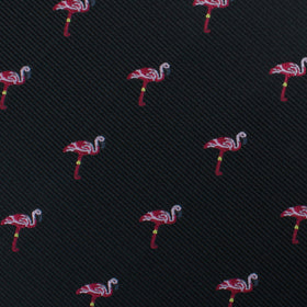 Aruba Island Black Flamingo Bow Tie