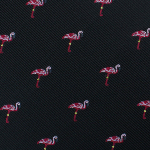 Aruba Island Black Flamingo Pocket Square