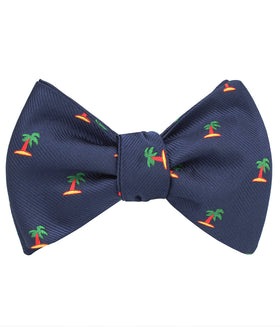 Aruba Palm Tree Self Bow Tie