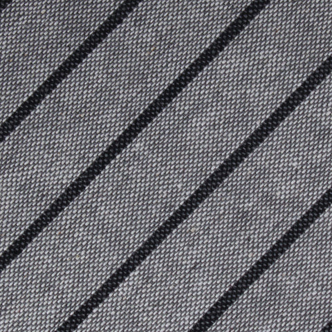 Ash Gray Pinstripe Diamond Bow Tie