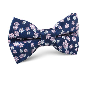 Aster Amellus Lilac Floral Kids Bow Tie