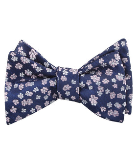 Aster Amellus Lilac Floral Self Bow Tie