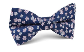 Aster Amellus Lilac Floral Bow Tie