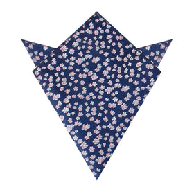 Aster Amellus Lilac Floral Pocket Square