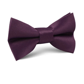 Aubergine Purple Satin Kids Bow Tie