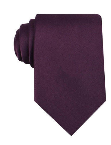 Aubergine Purple Satin Necktie