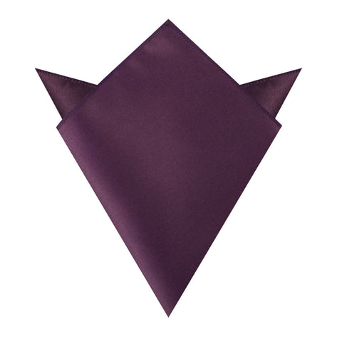 Aubergine Purple Satin Pocket Square