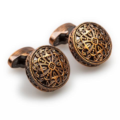 Augustus Caesar Antique Copper Cufflinks
