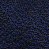 Aurora Navy Knitted Tie Fabric