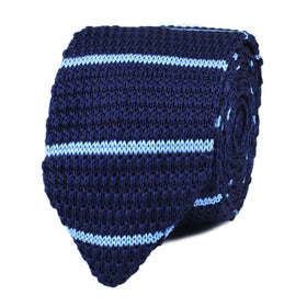 Axel Blue Striped Knitted Tie
