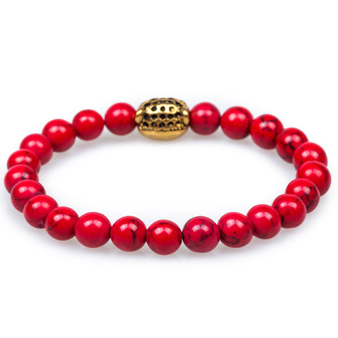 Azar Red Turquoise Black Panther Bracelet