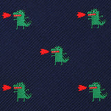 Azazel The Dragon Skinny Tie Fabric