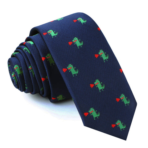 Azazel The Dragon Skinny Tie
