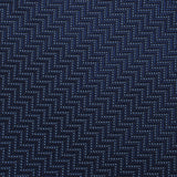 Aztec Blue Herringbone Necktie Fabric