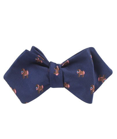 Baboon Diamond Self Bow Tie