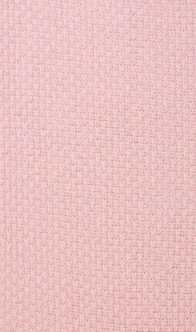 Baby Pink Textured Cotton-Blend Socks