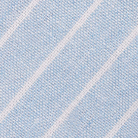 Baby Blue Wide Pinstripe Linen Kids Bow Tie