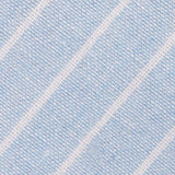Baby Blue Wide Pinstripe Linen Fabric Pocket Square