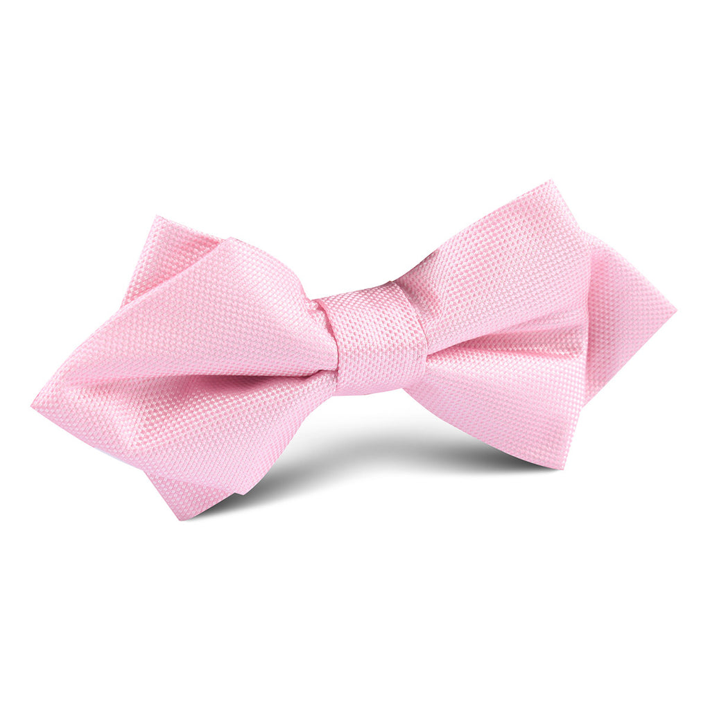 Baby Pink Diamond Bow Tie