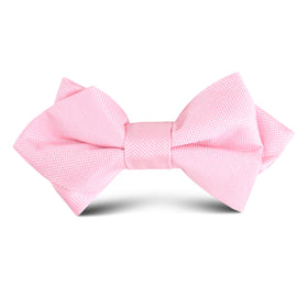 Baby Pink Kids Diamond Bow Tie