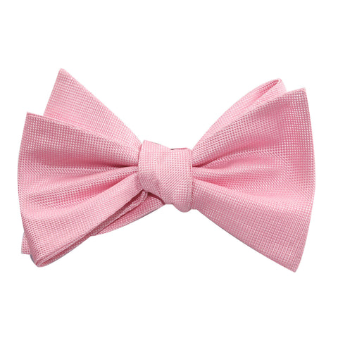 Baby Pink Self Tie Bow Tie