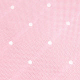Baby Pink with White Polka Dots Fabric Bow Tie X238